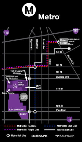 Red Line Los Angeles Subway Map.Public Transit Los Angeles Convention Center